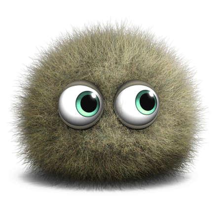 eye ball: 3d cartoon cute monster