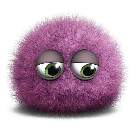 gomitoli di lana: 3d mostro cute cartoon