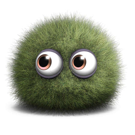 eye ball: 3d cartoon furry monster