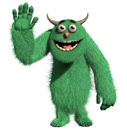 3d cartoon cute monster