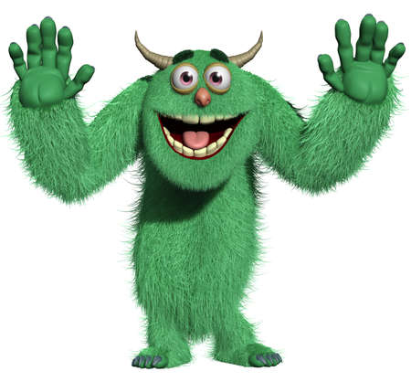 3d cartoon furry monster Stock Photo - 15743585