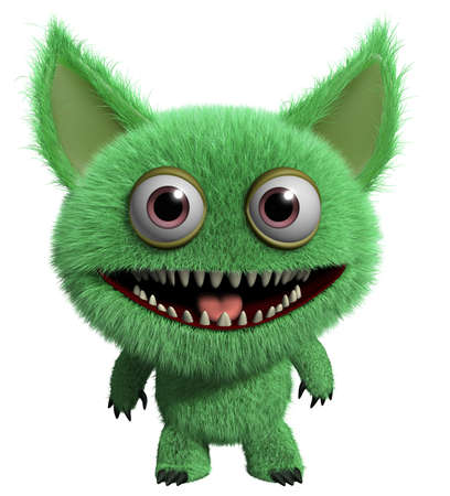 furry: 3d cartoon furry monster