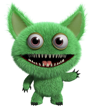 3d cartoon cute monster photo