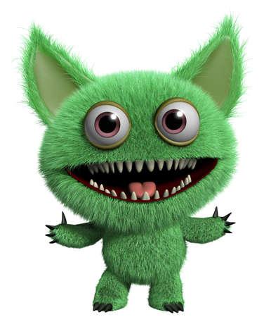 3d cartoon furry cute freak Stock Photo