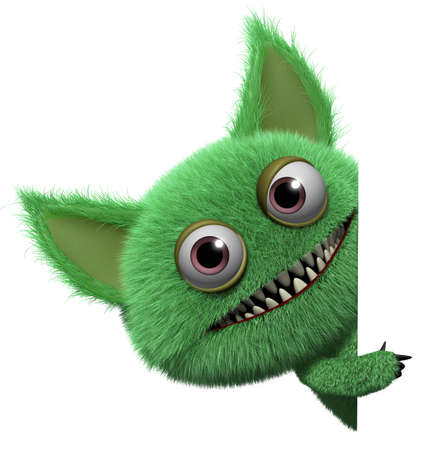 freaky: 3d cartoon cute monster