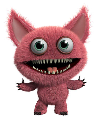 gremlin: 3d cartoon cute furry gremlin monster