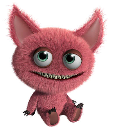 gremlin: 3d cartoon cute furry gremlin monster