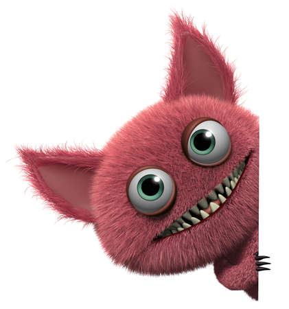 abominable: 3d cartoon cute furry gremlin monster