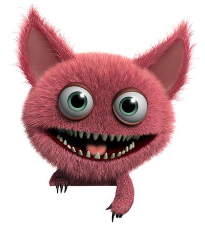 Dibujos animados 3d bonito tierno monstruo gremlin Foto de archivo - 15743537