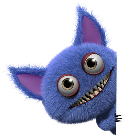 furry: 3d cartoon cute furry gremlin monster