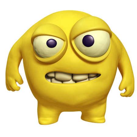 unicellular: mostro di cartone animato halloween giallo