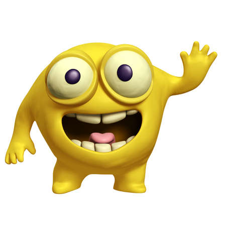 cartoon yellow alien Stock Photo - 15743263