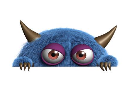 Dibujos animados 3d lindo monstruo
