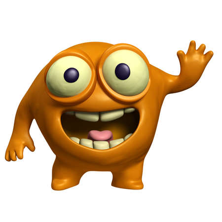 cartoon orange alien Stock Photo - 15743275