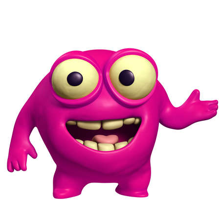 pink cute monster Stock Photo - 15743268
