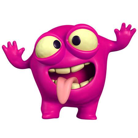 gekke roze monster