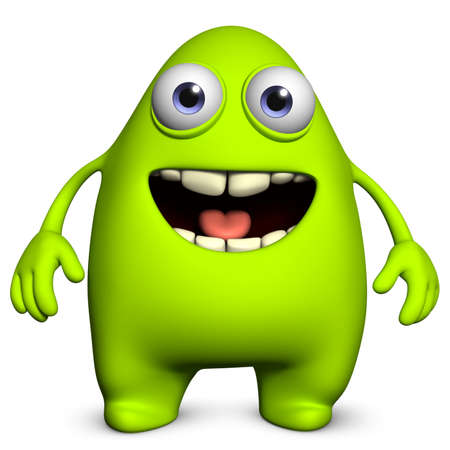 3d cartoon cute monster Imagens - 15743672