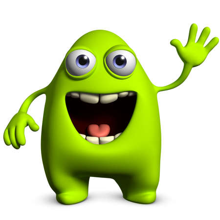 3d cartoon cute alien photo