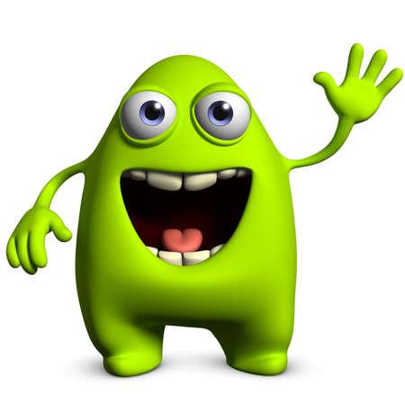 3d cartoon cute alien