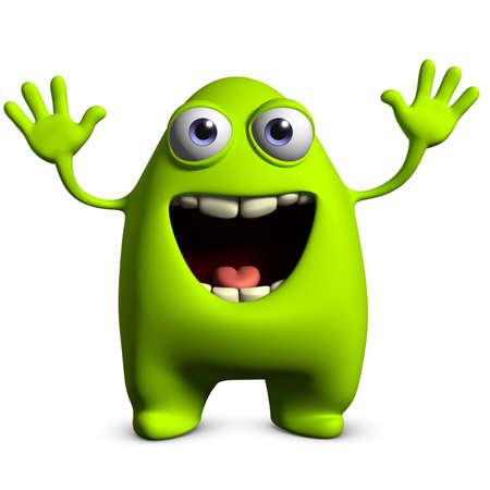 freaky: 3d cartoon cute monster