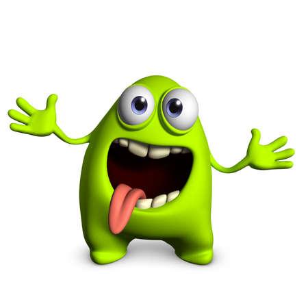 3d cartoon cute freak Stock Photo - 15743646