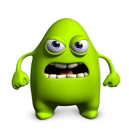 3d cartoon cute germ photo