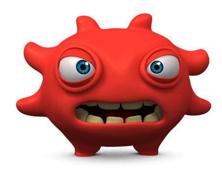unicellular: 3d bug cute cartoon