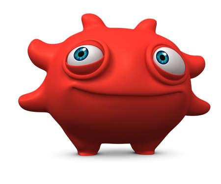 filth: 3d cartoon cute monster