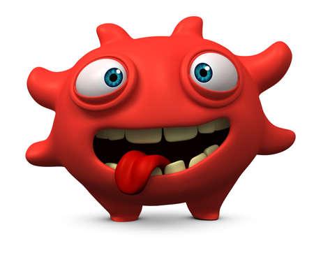 mutant: 3d cartoon cute virus Stock Photo