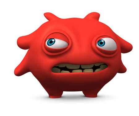 computer bug: 3d cartoon cute virus Stock Photo