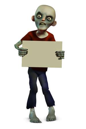 disgusting: 3d cartoon halloween zombie