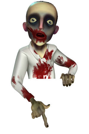3d scary: 3d cartoon halloween zombie
