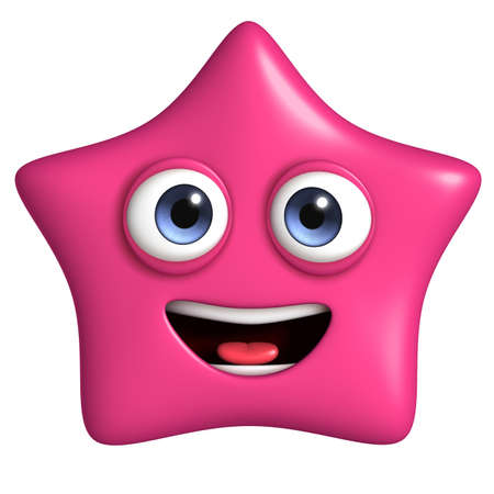cartoon star: 3d cartoon cute star Stock Photo