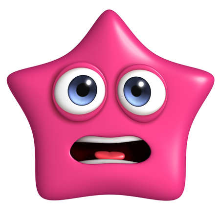 star cartoon: 3d cartoon cute star Stock Photo