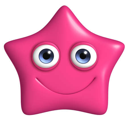 stars cartoon: 3d cartoon cute star Stock Photo