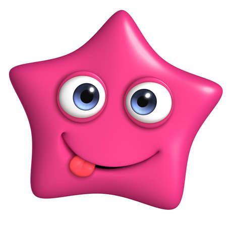 mime: 3d cartoon cute star Stock Photo