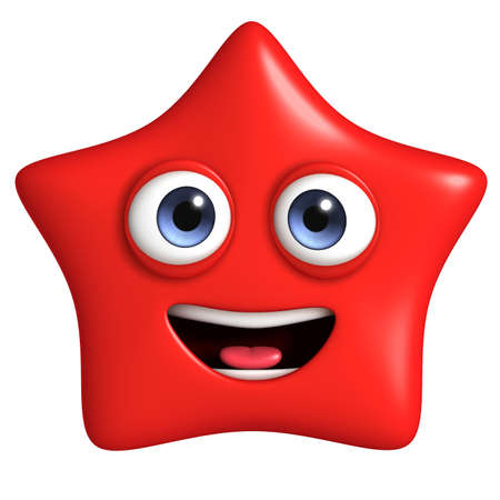 3d cartoon cute star photo