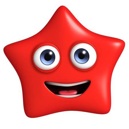 gladness: 3d cartoon cute star Stock Photo