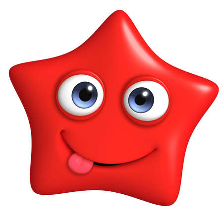 cartoon stars: 3d cartoon cute star Stock Photo