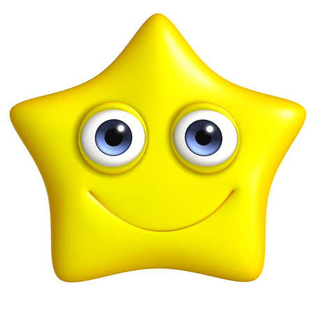 3d cartoon cute star Stock Photo - 15777652