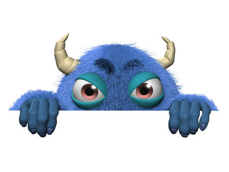 abominable: 3d cartoon cute halloween monster Stock Photo