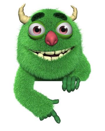 3d cartoon cute furry devil photo