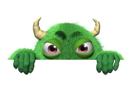 3d cartoon cute halloween monster photo