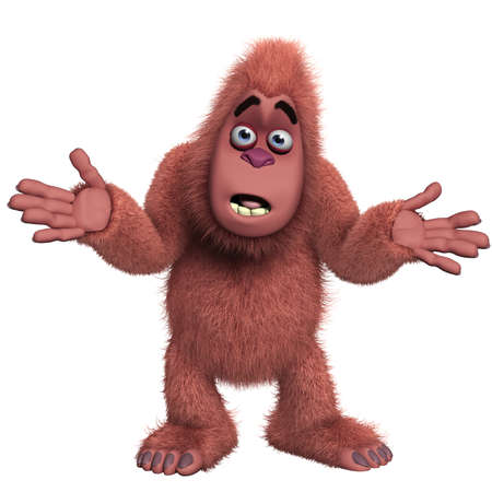 abominable: cartoon red yeti Stock Photo