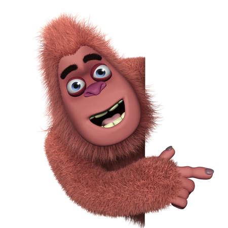 bigfoot: cute red bigfoot