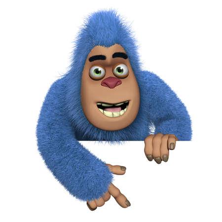 bigfoot: blue bigfoot