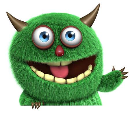 cartoon monster: 3d cartoon cute alien