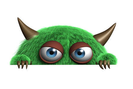 Dibujos animados 3d lindo monstruo Foto de archivo - 15810538