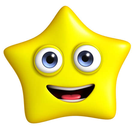estrella caricatura: 3d dibujos animados lindo estrella