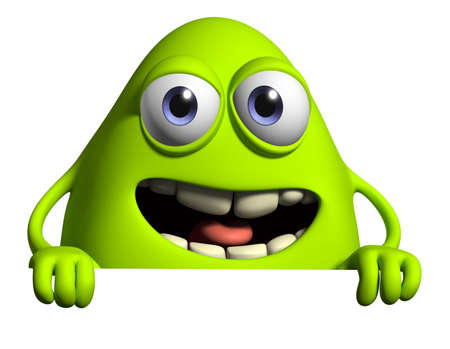 3d cartoon cute monster Stock Photo - 15810501
